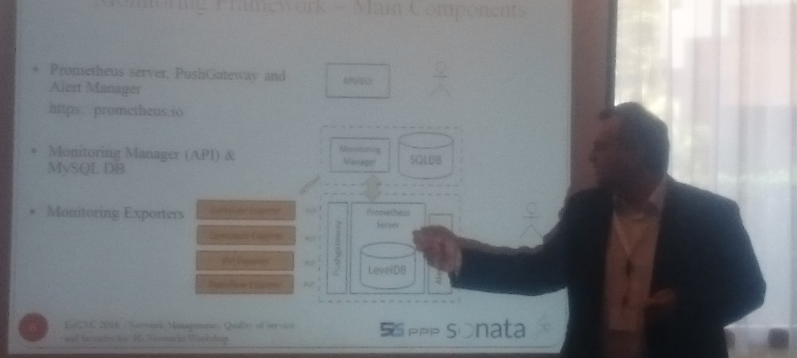 Synelixis presented an open source monitoring framework on EuCNC 2016