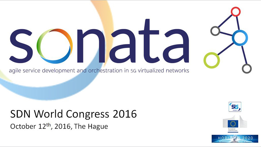 SONATA project release 1.0 at the SDN & OpenFlow World Congress