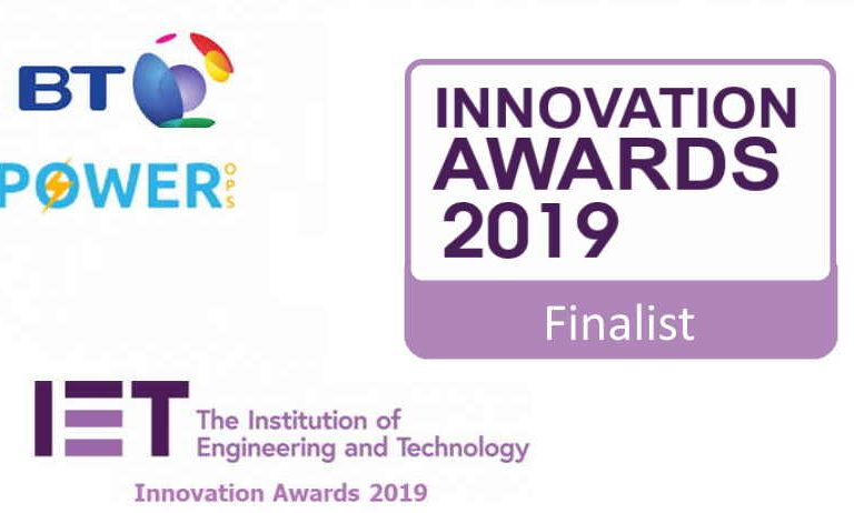 Power Ops finalist at the ΙΕΤ Innovation Awards 2019