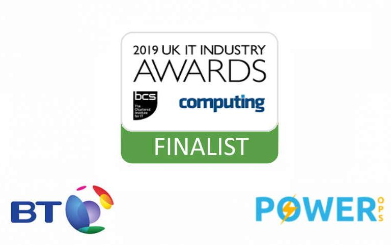 Power Ops finalist in the UK IT Industry Awards 2019