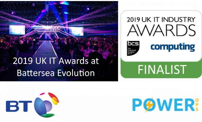 Power Ops at the UK IT Industry Awards 2019
