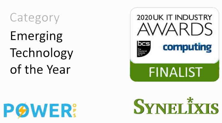 Power Ops at the UK IT Industry Awards 2020